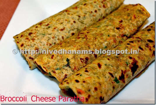 Brocolli Cheese Paratha - IMG_2561