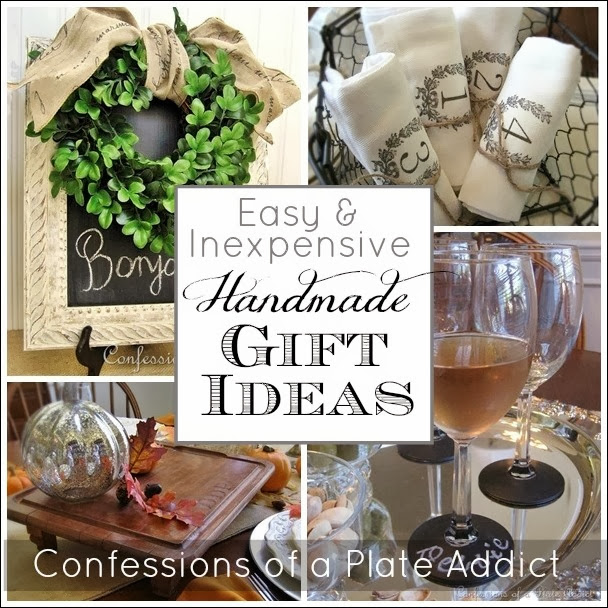 Confessions of a plate addict easy and inexpensive for Inexpensive homemade christmas gifts