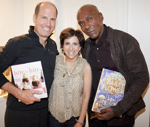 Peter, myself, and event guru Preston Bailey with their new books!