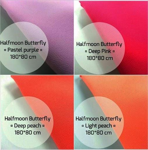 tudung halfmoon butterfly