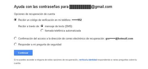 ayuda con las contraseñas para gmail