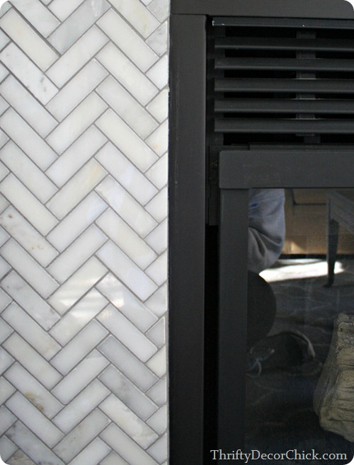 painting a gas fireplace