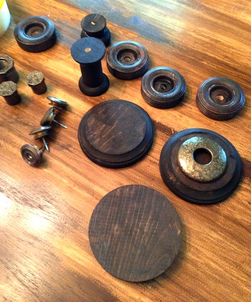 Assembling Bobbin Spools