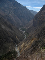 Hiking into Colca Canyon