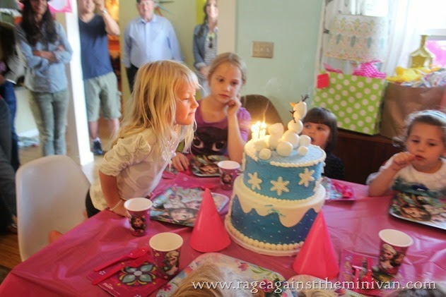 Our #Frozen themed birthday party cake from Sweet E's Bakery