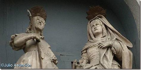 Los patrones de Madrid San Isidro y su esposa Almudena