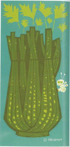 Never has celery looked more delicious! Celery on Color 6x12 Silkscreen print circa 1972.