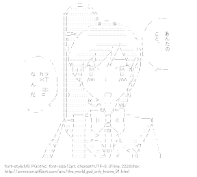 [AA]Kosaka Chihiro (The World God Only Knows)