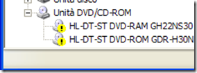 Problemi driver unità DVD/CD ROM