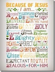 Because of Jesus Poster