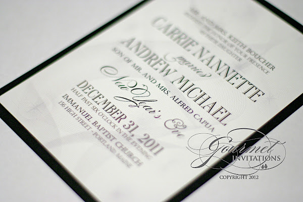 carrie andrew streamer new year s eve wedding invitations