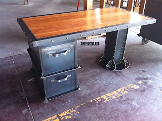 Ellis Filing Cabinet & I Beam desk