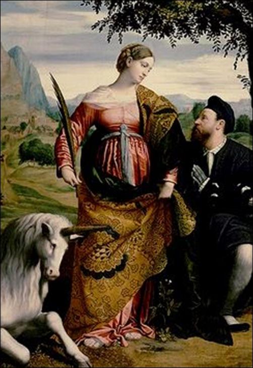 Le moretto da Brescia, St Justine à la licorne 1530