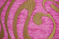 Tkanina obiciowa w stylu lat 60-tych, 70-tych. Różowa.