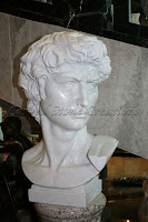 Marble Bust Of Michelangelo's David