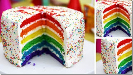 Raindow cake Panggang