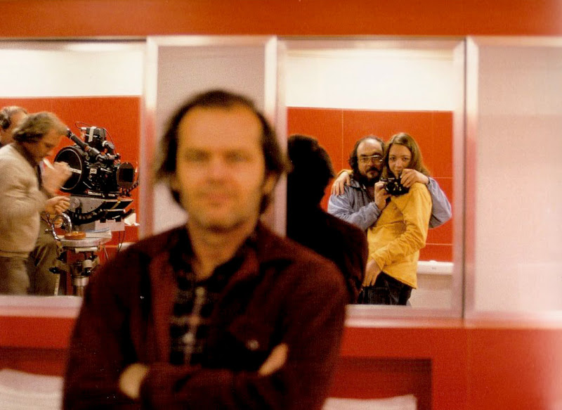 Jack Nicholson with Stanley and Vivian Kubrick during the filming of The Shining.jpg
