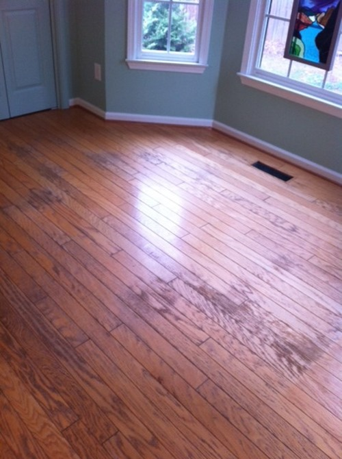 how to paint bad hardwood flooring