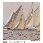 Gobeliny tematyce marynarskiej, żaglowce