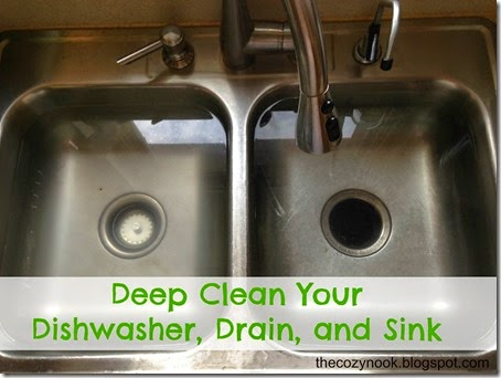 Deep Clean Your Dishwasher, Drain, and Sink - The Cozy Nook