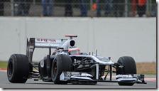 Barrichello nelle libere del gran premio di Gran Bretagna 2011