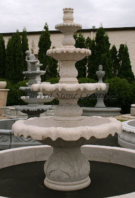 4-Tier Acanthus Self Contained Fountain, Giallo Fantasia