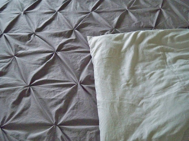 diy pin tucked duvet