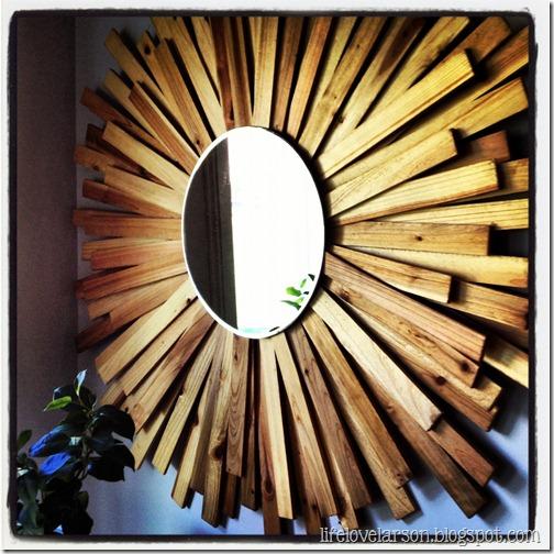 Wood sunburst