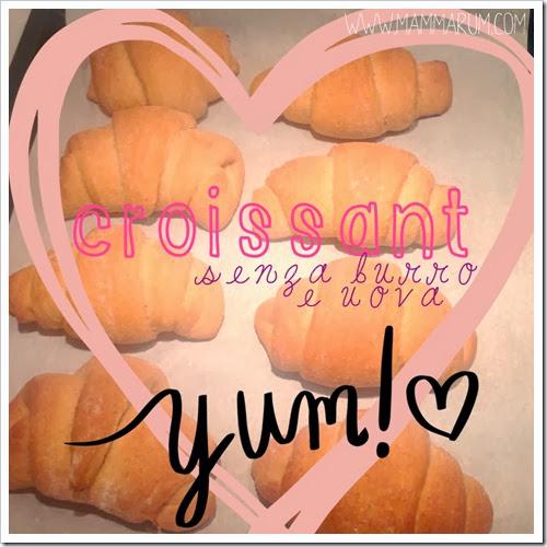 croissant senza burro e uova