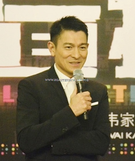 ANDY LAU Hong Kong MOVIE GALA PREMIERE SINGAPORE SAMMI CHENG celebrites superstars BLIND DETECTIVE MOVIE Singer actor romantic thriller theme song Cannes Film Festival 2013