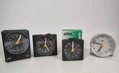 alarm clocks by Dieter Rams for Braun