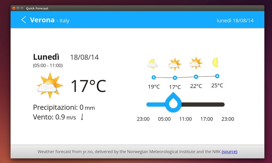 QuickForecast Weather-App in Ubuntu