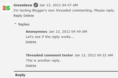Blogger embedded comment