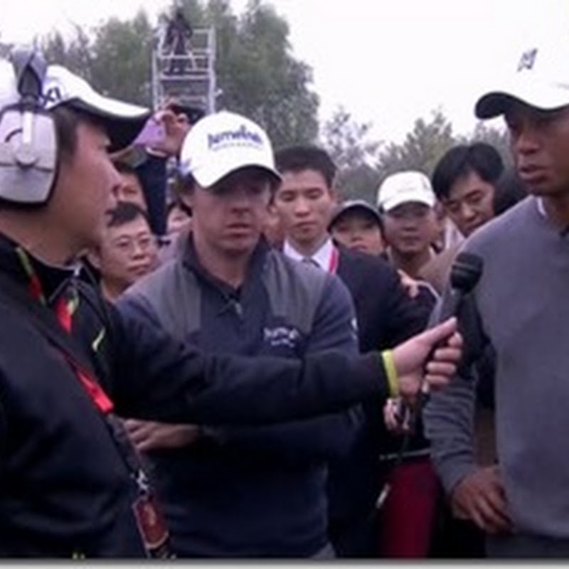 Rory McIlroy Tries Tiger Woods Nike Irons For Size