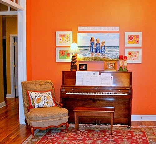 Favorite paint colors summer sunset for Country style living room paint ideas