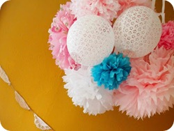 Tissue Paper Poms  {Sawdust and Embryos}