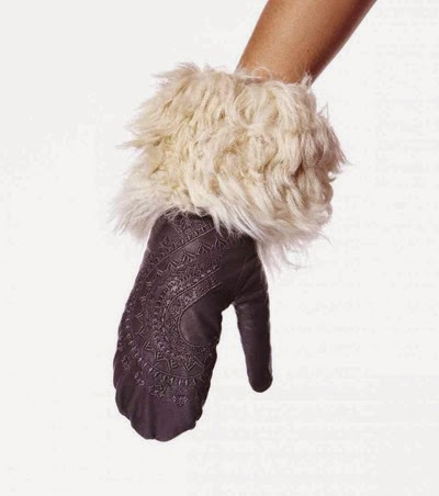 #861 Letherette mitten almost black
