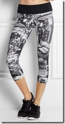 I Am Curious Jersey Printed Capri Leggings