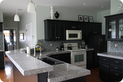 black cabinets kitchen