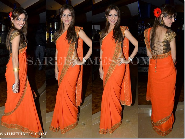 Tanaaz_Doshi_Orange_Saree