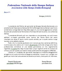 COMUNICATO ODG E ASER