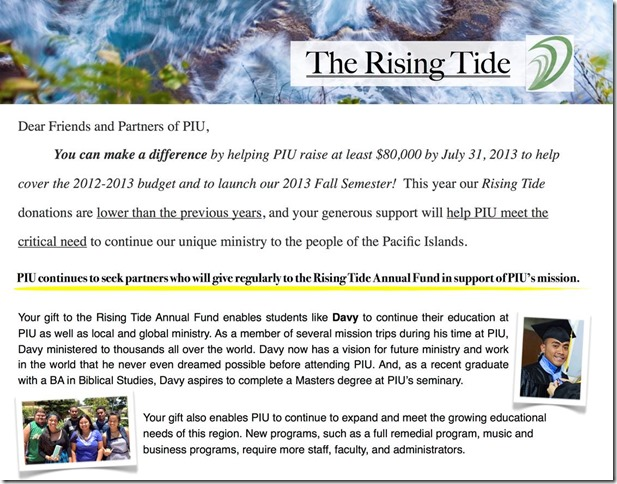 Summer 2013 Rising Tide email