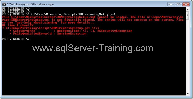 PowerShell script error   File not digitally signed : FIX system signed set executionpolicy set scripts script save remote Powershell Security powershell policy NOT loaded file execution scripts disabled system powershell set policy set executionpolicy remote signed save script cannot loaded because not digitally file execution disabled digitally cannot because