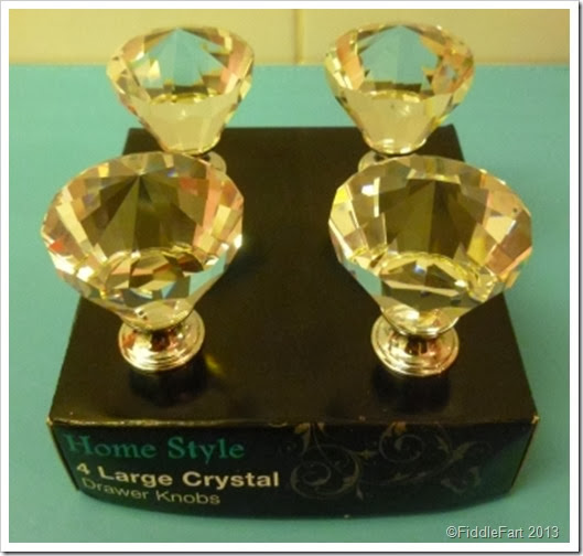 crystal drawer knobs Home Bargains