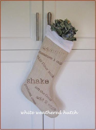burlap xmas stocking 015