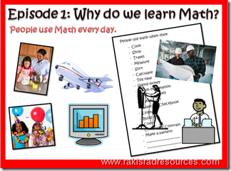 Math Mini Lesson #1 - Why do we learn math?  A flipped classroom video by Heidi Raki of Raki's Rad Resources