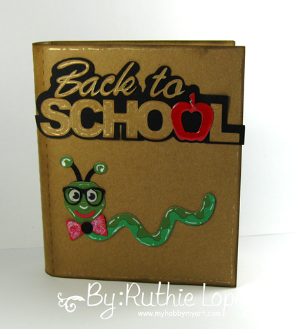 Back to School Blog Hop. SnapDragon Snippets. Book Gift card holder. Pencil Card. Ruthie Lopez. My Hobby My Art 2