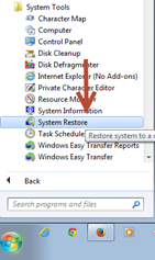 การใช้งาน system restore point ใน windows 7