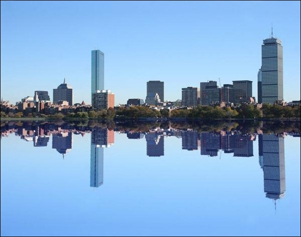 10. Boston, MA, USA reflection in water
