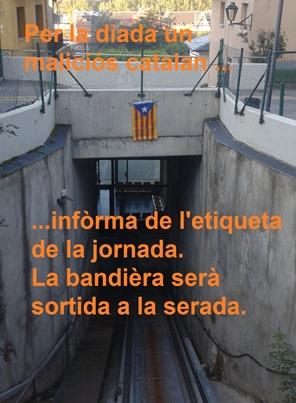 bandièra independentista a Puigcerdà